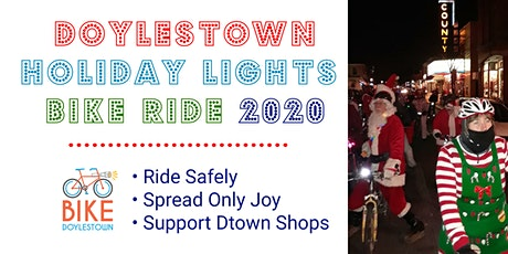 Doylestown Holiday Lights Bike Ride 2020 tickets