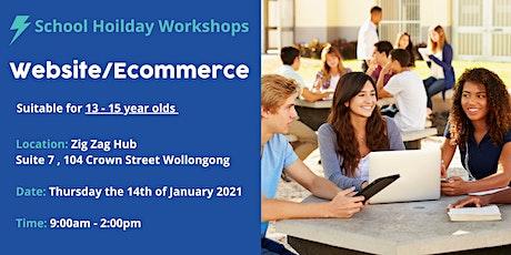 School Holidays -Website/Ecommerce Workshop tickets