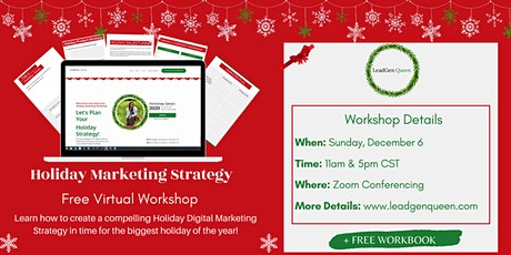 Holiday Marketing Strategy Workshop tickets