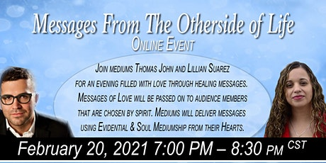 Messages from the otherside of life with Thomas Jo tickets