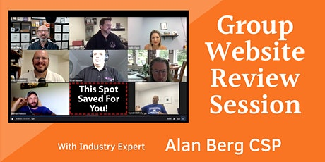 Group Website Review Session with Alan Berg CSP tickets