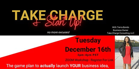 Take Charge & Start Up - Creating Your Company tickets