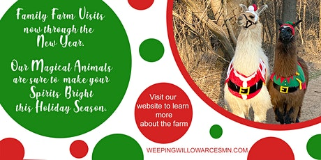 Magical Winter Wonderland at Weeping Willow Acres w/ Santa's Farm Animals tickets