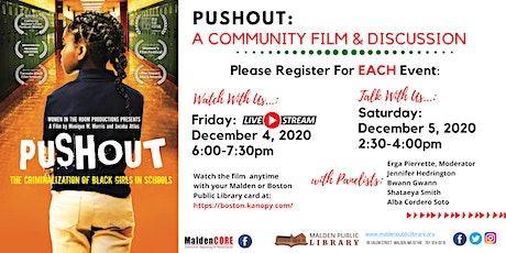 Pushout: The Criminalization Of Black Girls In Schools Panel Discussion tickets