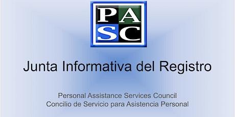 Sesión Informativa sobre el Registro - Deciembre 2020 entradas