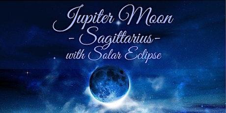 New Moon Online Gathering - Jupiter Moon in Sagittarius with Solar Eclipse tickets