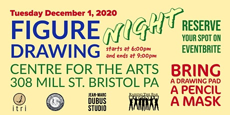Figure Drawing Session Dec 1, 2020 (6pm - 9pm) tickets
