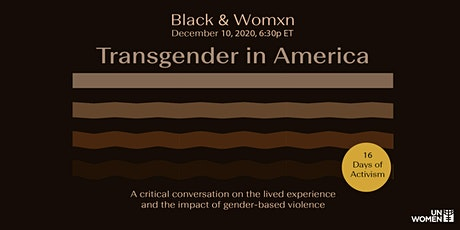 Black & Womxn: Transgender in America tickets