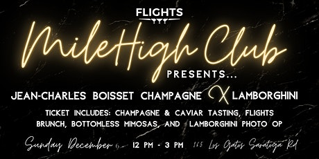 Flights Mile High Brunch - Jean-Claude Boisset tickets