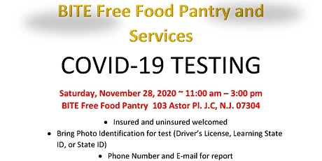 Weekly Food Pantry and Corvid -19 Testing tickets