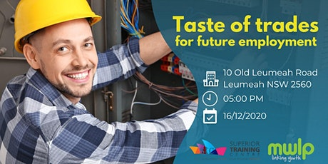 Taste of Trades for Future Employment tickets