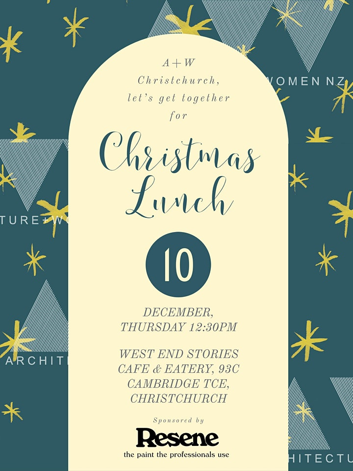 Architecture + Women Christchurch - Christmas Lunch image