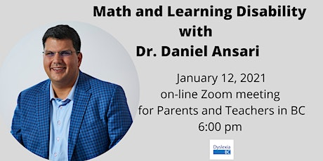 Math and Learning Disability with Dr. Daniel Ansari tickets