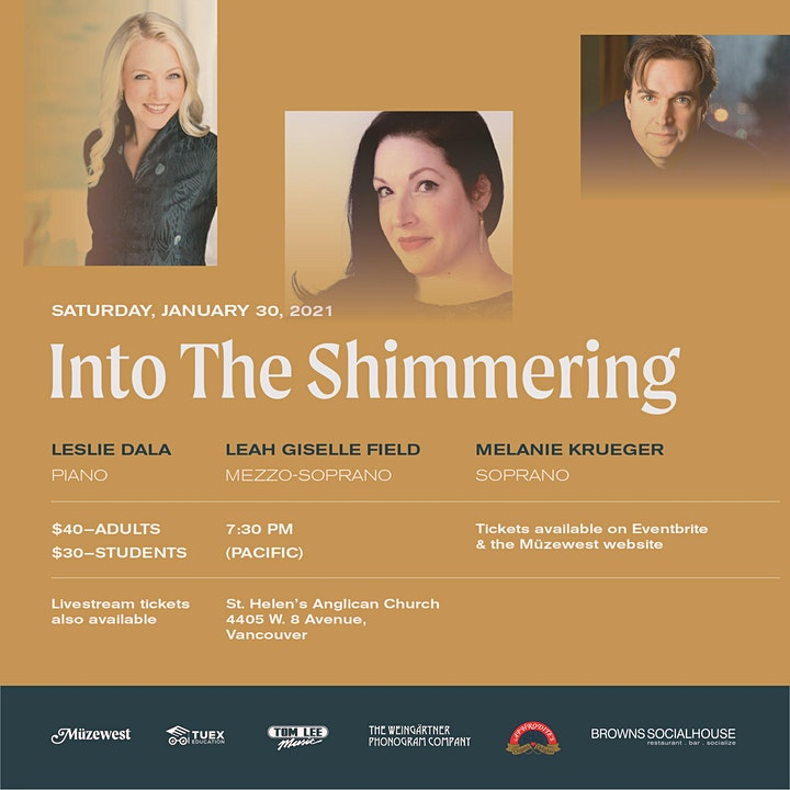 Into the Shimmering - An Evening of Song image