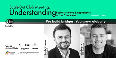 ScaleOut Club: Understand business culture&approaches across 3 continents tickets