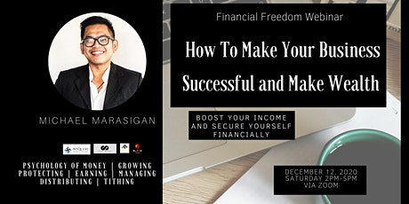 How To Make Your Business Successful and Make Wealth via Zoom tickets