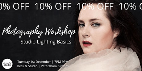 PHOTOGRAPHY WORKSHOP: Studio lighting basics tickets