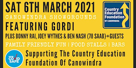 Country Education Foundation of Canowindra fundraiser featuring GORDI tickets