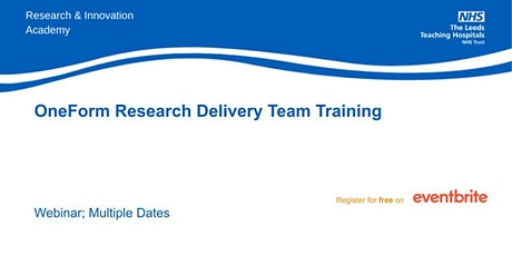 OneForm Research Delivery Teams Training tickets