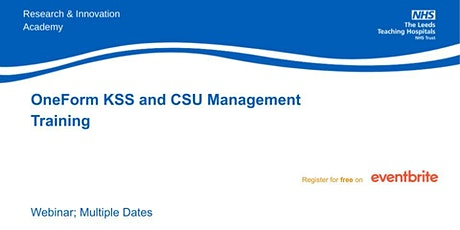OneForm KSS and CSU Management Training tickets