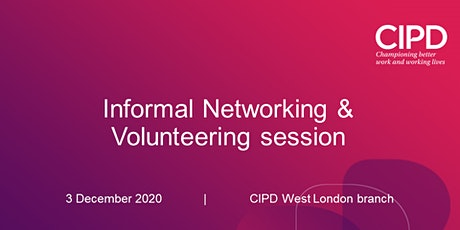 Informal Networking & Volunteering session tickets