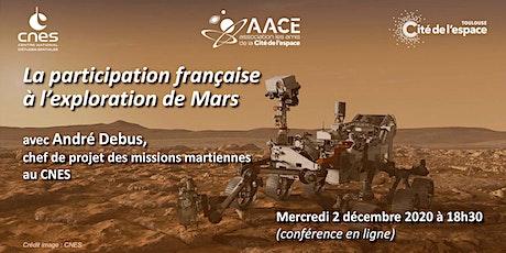 La participation de la France à l'exploration de Mars tickets