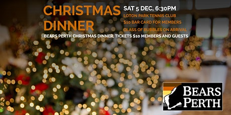 Bears Perth Christmas Dinner  (Sat 5 Dec 2020) tickets
