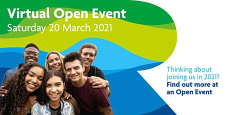 Virtual Open Event Saturday 20 March 2021 tickets