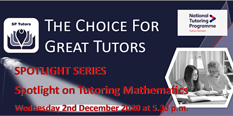 SP Tutors - Spotlight on Tutoring Mathematics tickets