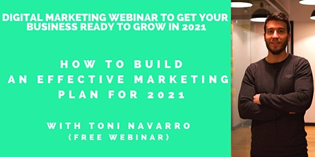 How to build an effective Marketing Plan for growth (in 2021) FREE WEBINAR tickets