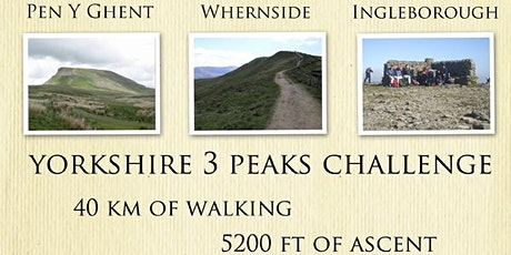 Yorkshire 3 peak challenge  Ashton Hiking Club tickets