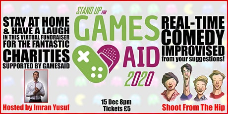 The Stay at Home for GamesAid Comedy Night tickets