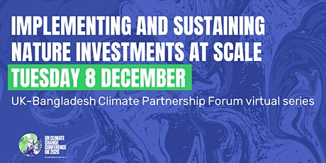 Implementing and sustaining nature investments at scale tickets