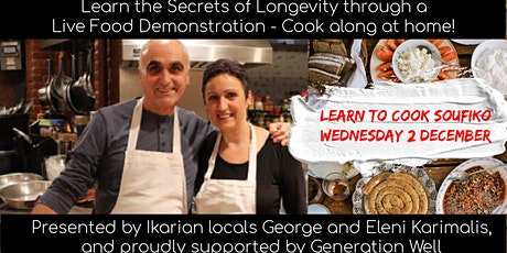 Learn to Cook for Longevity with Blue Zone Locals George and Eleni tickets