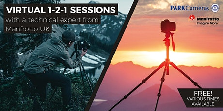 FREE Virtual 1-2-1 sessions with Park Cameras and Manfrotto tickets