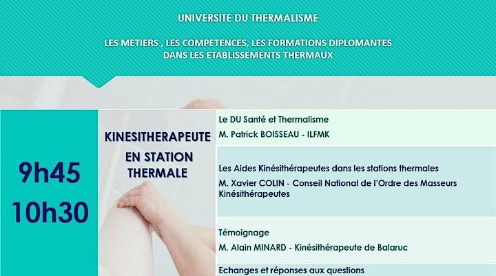 Image pour 6ème Université du Thermalisme