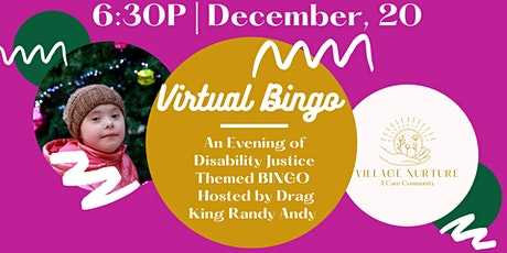Village Nurture Virtual BINGO & Raffle tickets