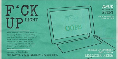 Animated Women UK: F*CK UP NIGHT & Networking Event tickets