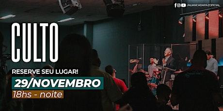 CULTO NOITE | Domingo 29/Novembro ingressos