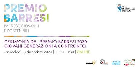 Cerimonia del Premio Barresi 2020: giovani generazioni a confronto biglietti