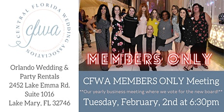 CFWA February MEMBERS ONLY Meeting at Orlando Wedding & Party Rentals tickets