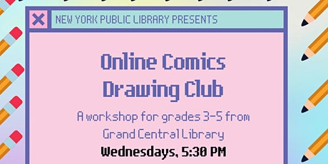 Online Comics Drawing Club  for Grades 3-5: Choose Your Own Art Prompt tickets