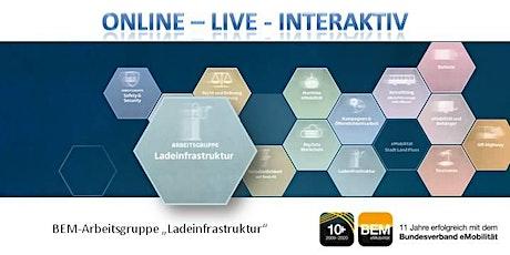 """ONLINE-BEM-Arbeitsgruppe """"Ladeinfrastruktur"""" Januar 2021 Tickets"""