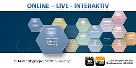 """ONLINE-BEM-Arbeitsgruppe """"Safety & Security"""" Januar 2021 Tickets"""