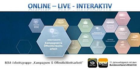 """ONLINE-BEM-Arbeitsgruppe """"Kampagne & Öffentlichkeitsarbeit"""" Jan. 2021 Tickets"""