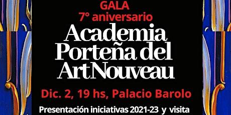 Academia Porteña Art Nouveau, festejos  7° aniversario desde el P. Barolo entradas