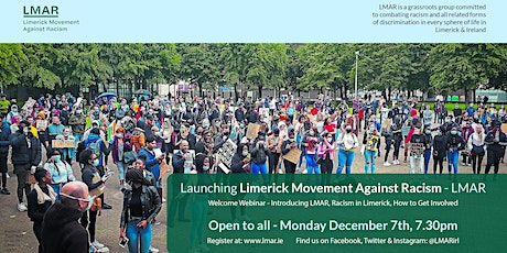 Launching Limerick Movement Against Racism (LMAR) tickets