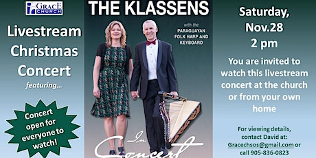 Eduard Klassen Christmas Concert - In-Person Attendance tickets
