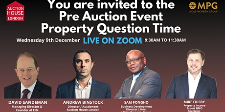 Midas Property Group Presents The Pre Auction Event Property Question Time boletos