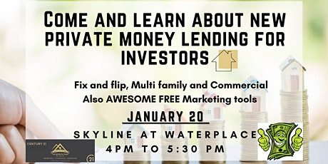 Come and learn about new private money lending for investors tickets